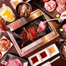 《宴コース》 超豪華!厚切り牛タン&黒毛和牛肉寿司を楽しむ 2H飲み放題付 12品 7,500円