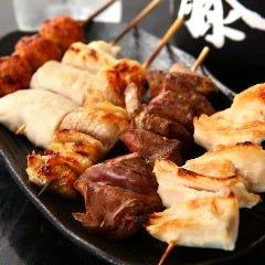 本格地鶏の串焼き