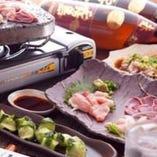 宮崎地鶏を存分に堪能頂ける お造り&溶岩焼きコース 3,500円