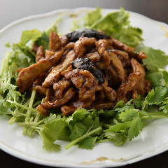 香菜と豚肉炒め