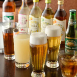 台湾ビールや果実ビールなど、他所ではなかなかお目にかかれない珍ドリンクもラインナップ。