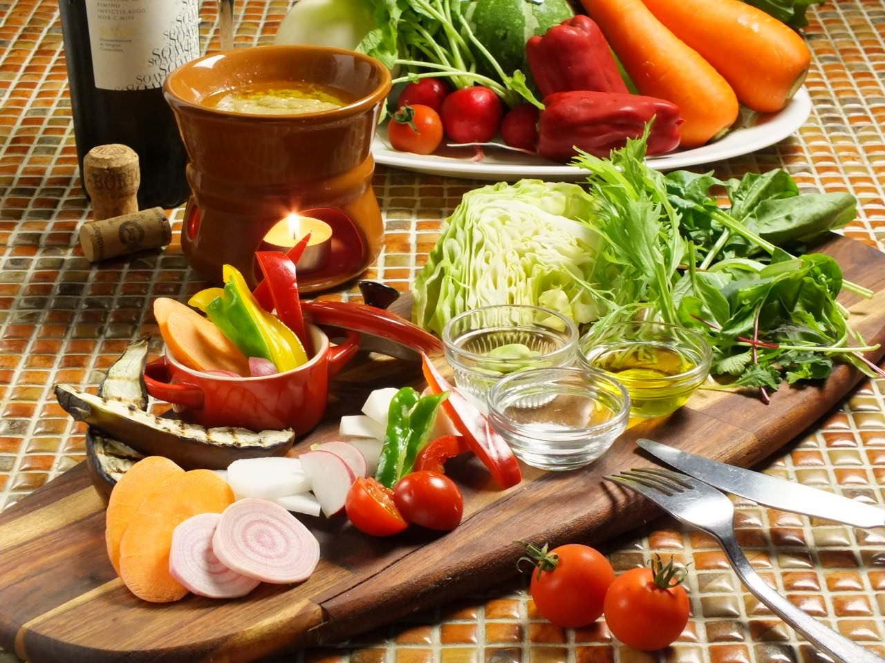 旬野菜の盛り合わせ 全国各地よりのこだわり野菜