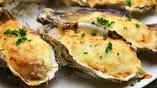 殻付き牡蠣のグラタン