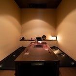 【1階】大切なおもてなしにも最適な掘りごたつ席完全個室(~6名様×2部屋)