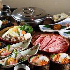 厳選お肉・鮮魚・季節の逸品が揃う