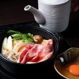 【厳選お肉を鍋で】 自家製の割り下で作る絶品のすき焼きに舌鼓