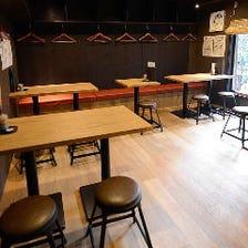 2階のお席は20名様まで宴会可能!