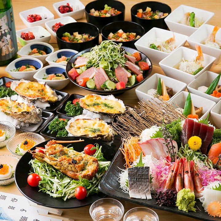 北海道の魅力を味わいつくすコースを飲み放題付2,500円~ご提供