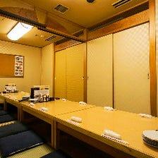 シーンで選べる多彩な個室空間を完備