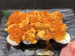 雲丹とイクラのせ巻寿司