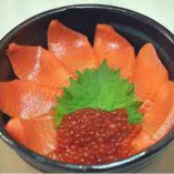 サーモンいくら丼ランチ(ミニサラダ・お椀・小鉢)