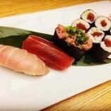 まぐろセット寿司ランチ(ミニサラダ・お椀・小鉢)