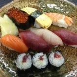 函館寿司ランチ(ミニサラダ・お椀・小鉢)