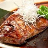 金目鯛姿煮ランチ(ごはん・お椀・香の物・小鉢)