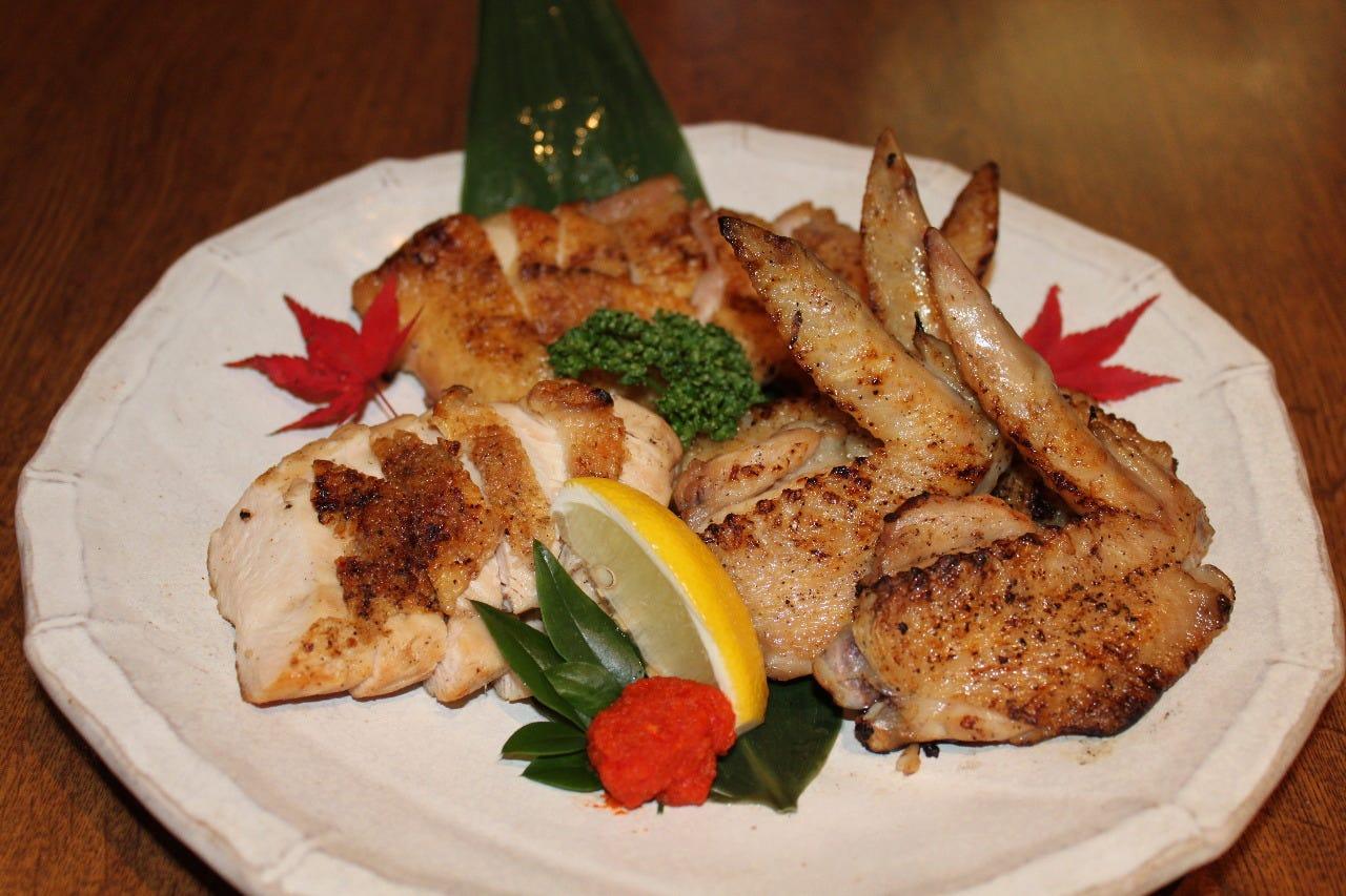博多地鶏の炙り焼き(もも・むね)