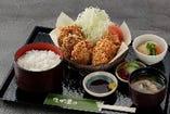 唐揚げ定食(カレースパイシー風味)
