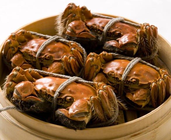 上海蟹姿蒸し