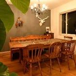 5名様の個室はちょっとしたパーティーやママ会にもゆったり最適