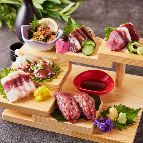 ◆馬肉部位の食べ比べ -馬階段-◆