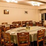 中華料理店ならではの雰囲気を感じられる7〜12名様までの円卓テーブル席
