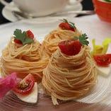 夏メニュー「トマトの冷製カッペリーニ」