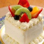 サプライズOK!手作りケーキも◎