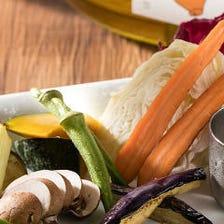 八木町契約畑の色々野菜の盛り合わせ アンチョビマヨネーズ添え