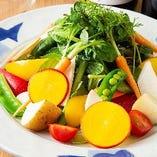 【サラダ】 新鮮野菜がたっぷり!自家製ドレッシングでどうぞ