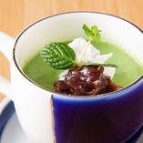 【食後】 福岡県の八女抹茶がふわりと香る上品な大人のデザート