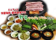 野菜サムギョプサルセット