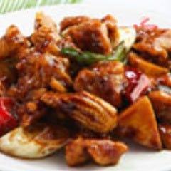 鶏肉の甘味噌辛味炒め