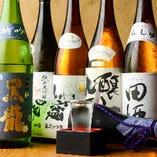 飛露喜に田酒、而今に獺祭など店主厳選の地酒は常時30種以上!