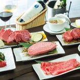 和牛を堪能する牛一頭丸ごとコース ¥10,000