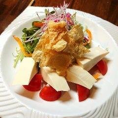京とうふとパリパリ湯葉のサラダ