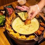 【女子会にも◎】チーズ好きにはたまらないUFOフォンデュ!