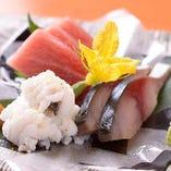 旬の素材を焼物や煮物、天婦羅など多彩な逸品で味わえます