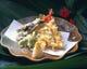 旬の魚介と季節野菜の天ぷら 680円