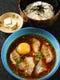 特製冷ダレで食べる 鯛めし 天然鯛や金目鯛で 580円