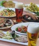 ☆彩菜鶏と旬の食材のライトコース 2時間飲み放題付き5品3600円