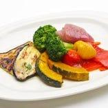 ナポリの前菜の盛り合わせ