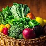 有機栽培の新鮮な旬野菜をお楽しみください