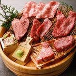 食べるべき逸品「黒毛和牛厳選希少部位7種盛り」2,480円(税抜)