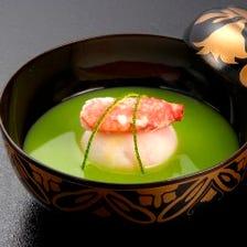 [懐石料理] 【百合】 先八寸 御椀 向附 炊合 焼物 御飯 デザート