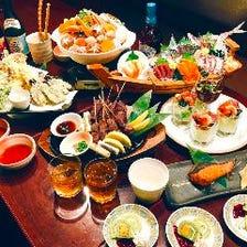 忘新年会◆大漁舟盛り&選べる鍋含む豪華9品+3時間飲放題付き6,000円【能登コース】