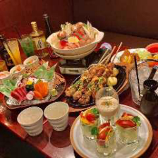 忘新年会◆鶏と鮭の石狩ちゃんこ鍋含む人気7品+2時間飲放題付き4,000円【山王コース】