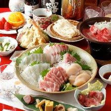 【最大2.5時間飲み放題付】小江戸グルメプラン・焼きしゃぶセット〈全9品〉宴会・飲み会