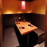 人気の個室席!デートなど少人数様向けに最適となっています!