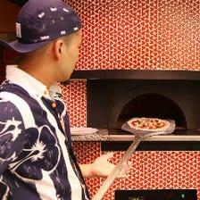 石窯で焼く本格ナポリピッツァ500円