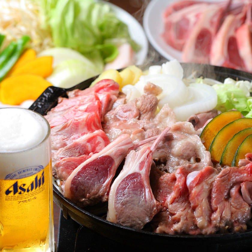 人気!ラムチョップ、ラムタンなど特選羊肉6種が食べ放題!