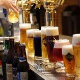 アサヒ直営店ならではの高品質で美味しいビールを取り揃えてます。全14種。アサヒスーパードライはもちろん黒ビール、復刻版のアサヒ生ビール、根強い人気の琥珀の時間、隅田川ブルーイングゴールデンエールなど